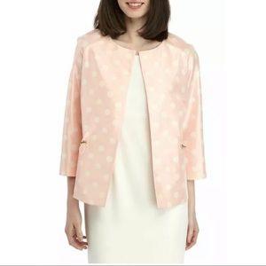 New Anne Klein cherry blossom dots blazer jacket